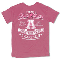 Sweet Thing Team Awareness Breast Cancer Faith Hope Cure Girlie Bright T-Shirt