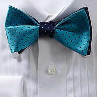 Cremieux Double Dot Silk Bow Tie