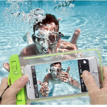 High Quality PVC Waterproof Underwater Phone Case Diving Bag Pouch For iPhone 5 6S 7 Plus For Samsung Galaxy J1 3 5 A5 7 2016