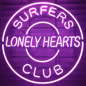 Surpers Lonely Hearts Club Neon Sign Real Neon Light