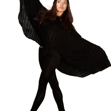 Hoodie Poncho & Stretch Knit Yoga Tights Leggings KD dance New York Sexy Chic & Unique Made In USA