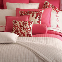 King Quilted Silk Coverlet