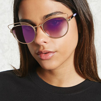 Cat Eye Cutout Sunglasses