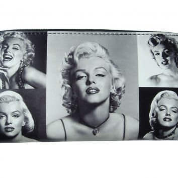 Marilyn Monroe Black White Rare Picture Collage ID Coin Bill Holder Wallet