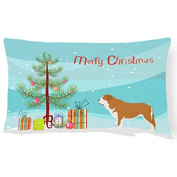 Mastin Epanol Spanish Mastiff Christmas Canvas Fabric Decorative Pillow BB8511PW1216