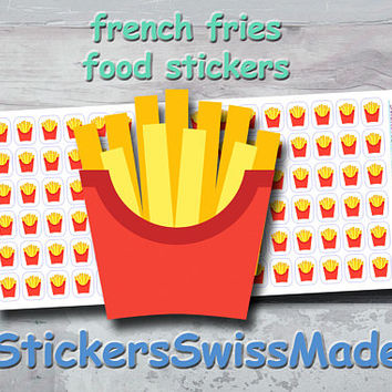 PLANNER STICKER || french fries || food || small colored icon | for your planner or bullet journal