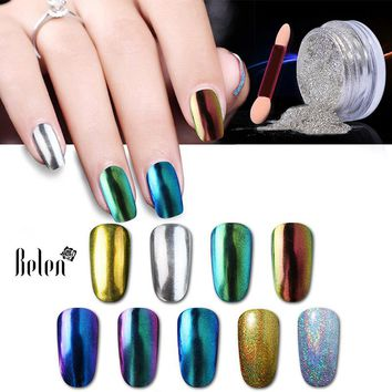 Belen 3D Shiny Silver Gold Vtirka Nail Glitter Powder Magic Mirror Chrome Pigment Nail Glitters Nail Polish Dust 1g Colors