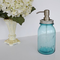Mason Jar Soap Dispenser Blue Ball Perfect Mason Jar