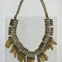 Geo Fringe Statement Necklace