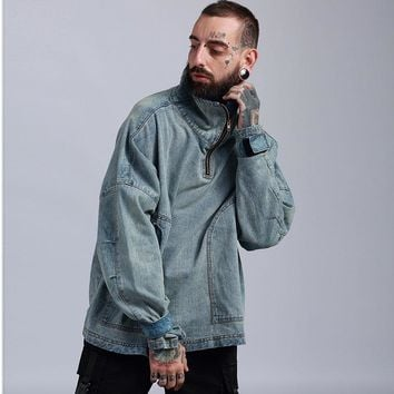 Men's Fashion Denim Vintage Jacket [411398995997]
