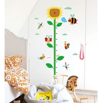 Sunflower Height Ruler Wall Sticker