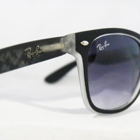 Rare Print Wayfarer Sunglasses Fancy Color Black & White from Eye fashion