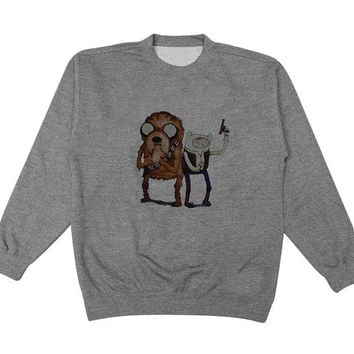 star adventure sweater Gray Sweatshirt Crewneck Men or Women for Unisex Size with variant colour