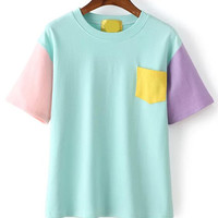 Color-block Pocket T-shirt