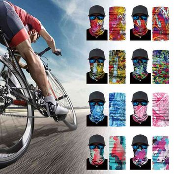 Multifunction fishing scarf bandanas neck warmer Skull Shield Face Hunting Mask Headband Bandana Headwear cycling Scarf Head