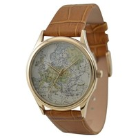 Vintage Map Watch (Europe)
