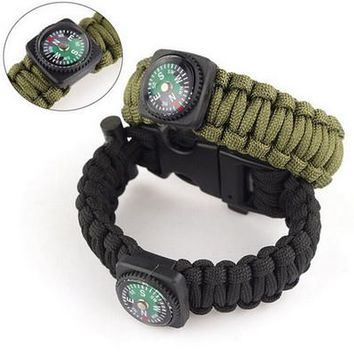 Survival Paracord Bracelet for Men Outdoor Camping Hiking Buckle