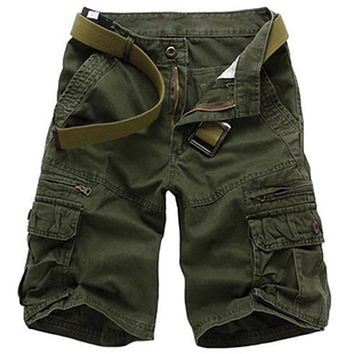 Men's Camouflage Cargo Shorts High Quality Cotton Men Casual Loose Shorts Men's Army Short Pants