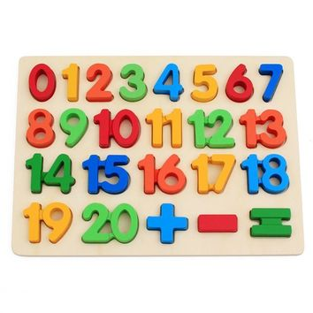 Colorful Wooden Math Arithmetic Number Puzzles For Toddlers Educational Preschool Toys Teaching Tools Cognitive Development Recognition Intelligence Toys Jigsaw Kids Gift