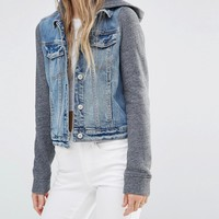 Hollister Hooded Denim Jacket