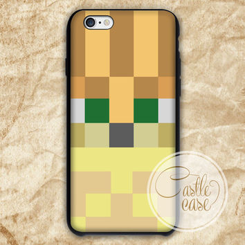 Minecraft ocelot Black White iPhone 4/4S, 5/5S, 5C Series Hard Plastic Case