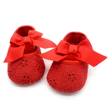 Baby Girl Princess Prewalker Shoes Pure White Soft Sole Shoes Infant Leisure First Walkers Girl Toddler Shoes LH6s