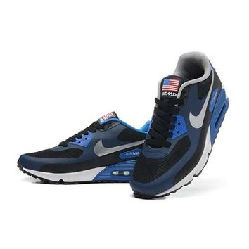 Nike Air Max 90 American Flag Men s Women s Shoes Navy Grey