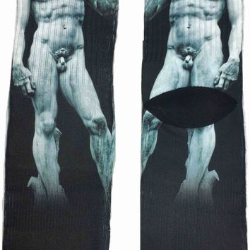 David Masterpiece Statue Art Socks