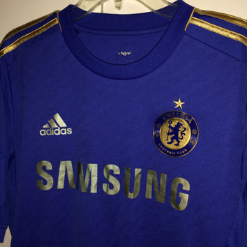 Sale!! Vintage Adidas Chelsea Fc Home soccer Jersey CFC England Football shirt Size Large Free US Shipping