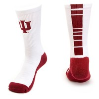 Mojo Indiana Hoosiers Champ 1/2-Cushion Performance Crew Socks - Women, Size: 9-11 (White)