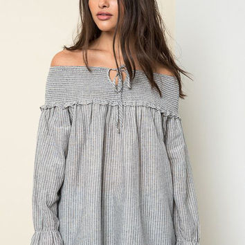 Off Shoulder Boho Tunic
