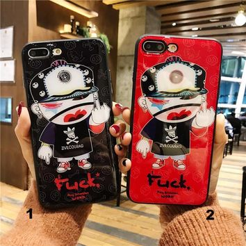 Free Style Glass texture mobile phone case for iPhone X 7 7plus 8 8plus iPhone6 6s plus -171212