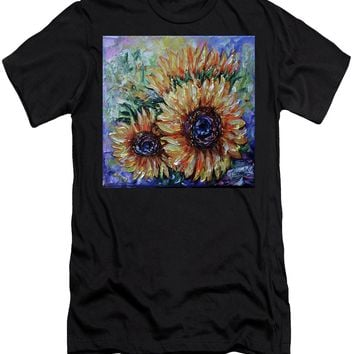 Ah, Sunflower By Lena Owens - Men's T-Shirt (Athletic Fit)