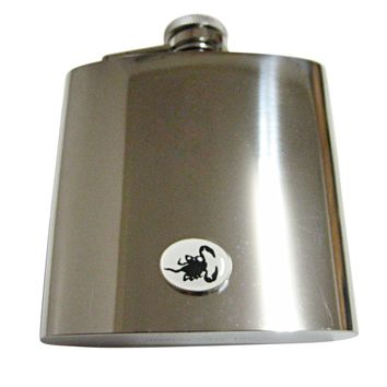 Black Scorpion 6 Oz. Stainless Steel Flask