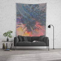 Glitch Wave Wall Tapestry by duckyb