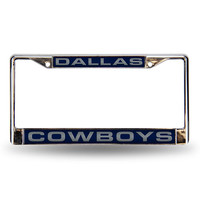 Dallas Cowboys NFL Laser Chrome License Plate Frame