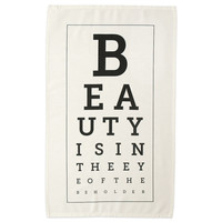 Beauty Eye Chart Tea Towel