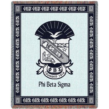 PHI BETA SIGMA AFGHAN THROW BLANKET