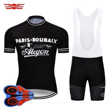2018 Retro Cycling Jersey Set MTB Uniform Bike Clothing Ropa Ciclismo Classic Bicycle Wear Clothes Mens Short Maillot Culotte