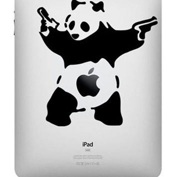 Banksy Panda -- iPad Decal iPad Sticker Art Vinyl Decal for Macbook Pro / Macbook Air / iPad 1 / iPad 2 / iPad 3/iPad 4/ iPad mini
