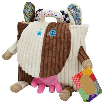 Plush Owl Backpack Toddler Toys Backpack Baby Food Bags Storage Bags Toys cartoon Infant toddler doll Toys gift