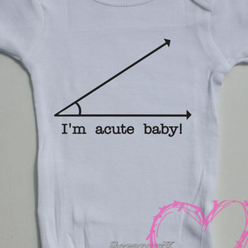 Acute Nerd Geek Math Genius Baby Onesuit Creeper Romper baby boy baby girl baby shower gift
