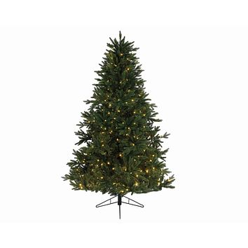 "6.5' x 54"" Pre-Lit Everlands Skandia Fir Artificial Christmas Tree - Warm Clear LED Lights"