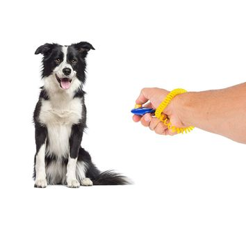 Colorful Dog Training Clicker with Wrist Strap
