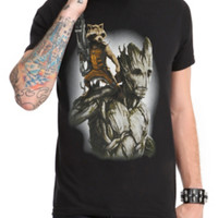 Marvel Guardians Of The Galaxy Rocket & Groot T-Shirt