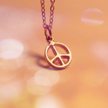tiny peace sign necklace - peace sign necklace - dainty minimalist jewelry