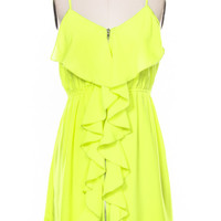 Highlight the Town Dress - Neon Yellow