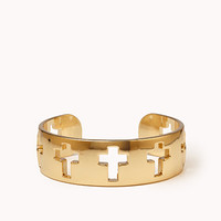 FOREVER 21 Holey Cross Cuff