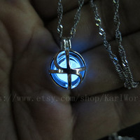 Glow in the dark poisoned blue necklace, Everyday Necklace, zelda necklace