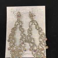 Long Time Earrings, Dazzle Rhinestone Earrings